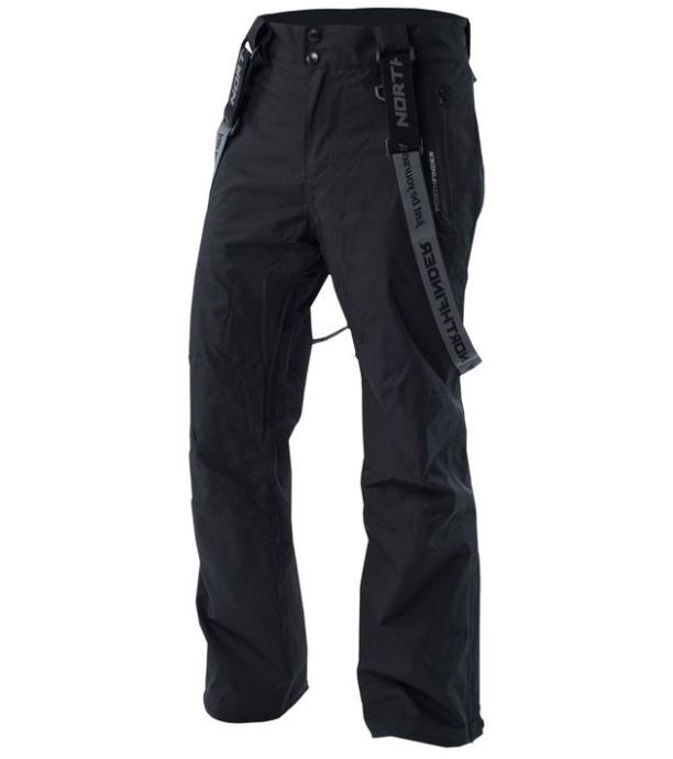 NORTHFINDER URBAN Pánské lyžařské kalhoty NO-3395SNW269 černá M