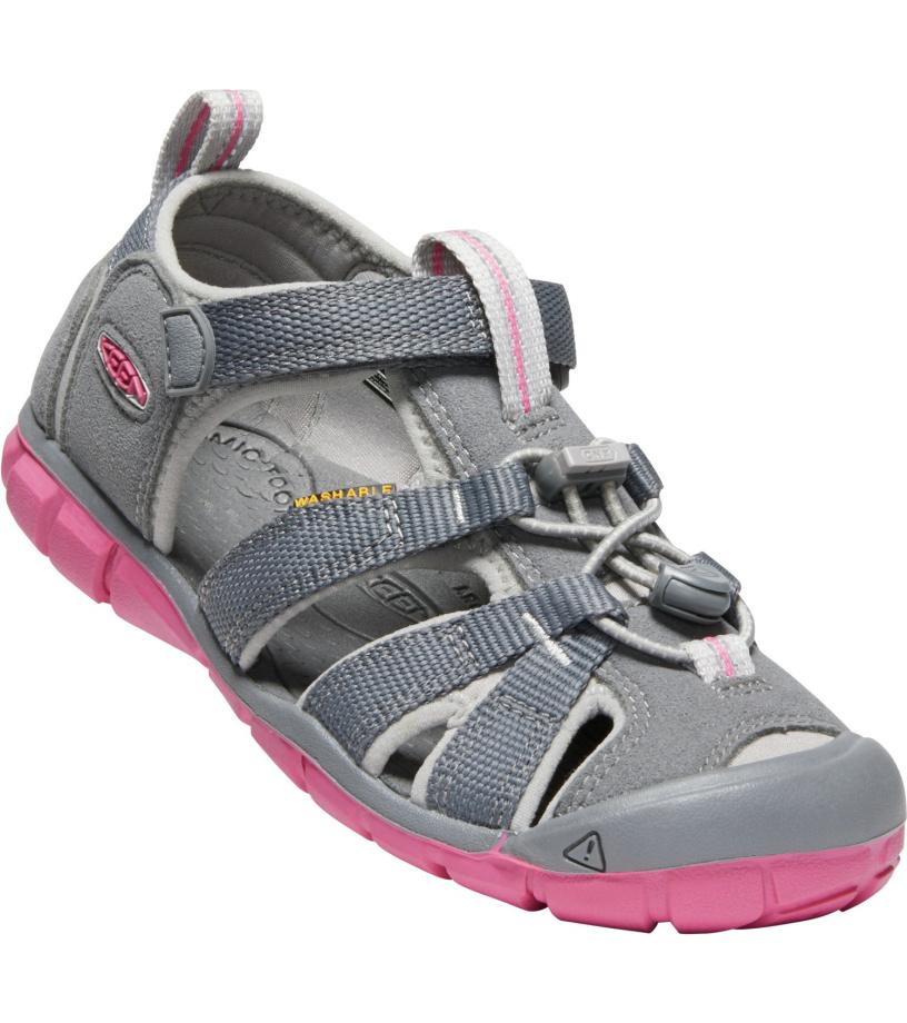 KEEN SEACAMP II CNX JR. Dětské sandály 10005851KEN01 steel grey/rapture rose 36