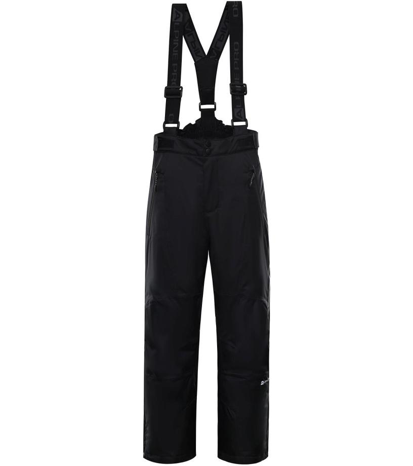ALPINE PRO ANIKO 3 Dětské lyžařské kalhoty KPAP168990 černá 128-134
