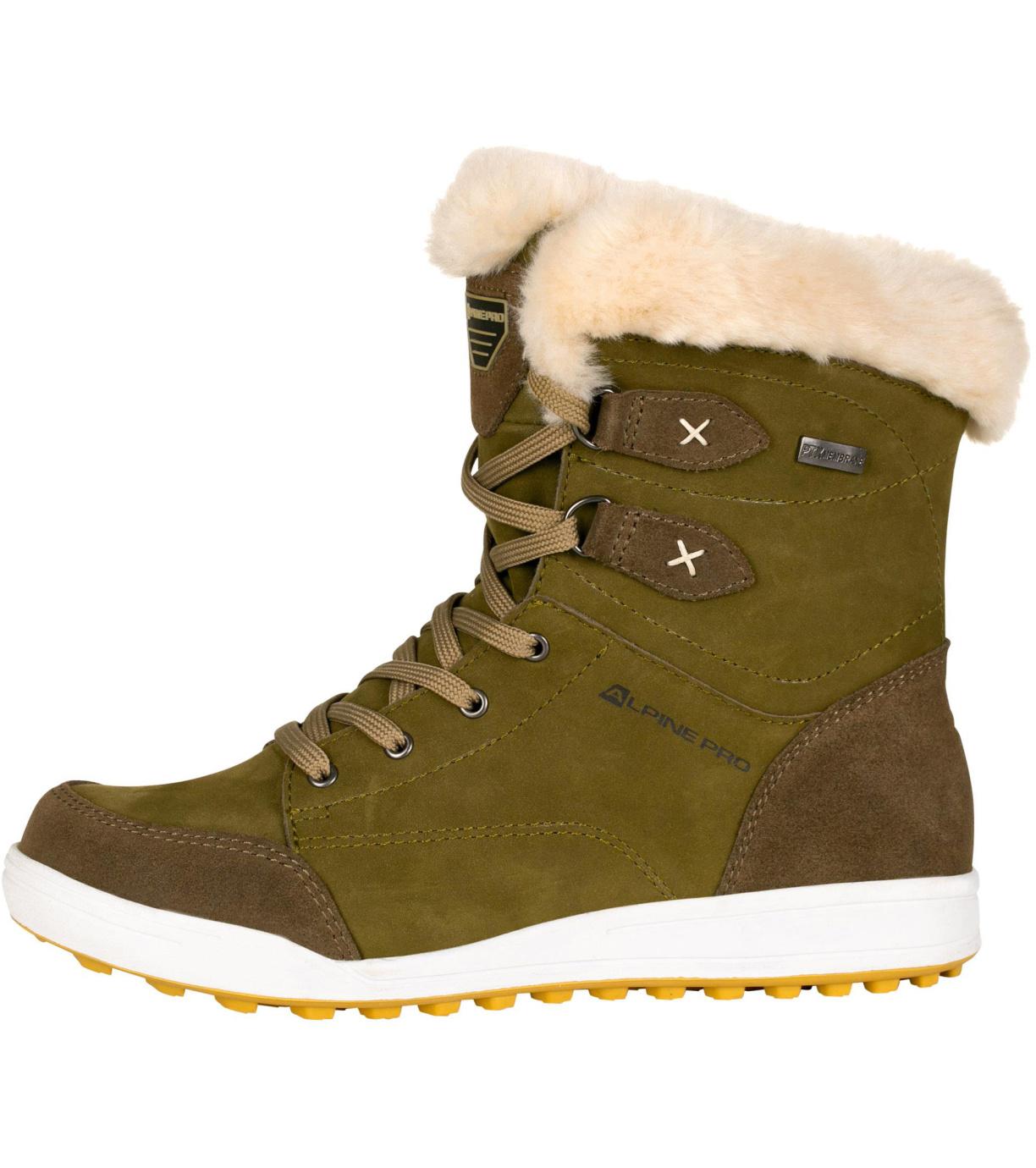 ALPINE PRO NOORVIKA Dámská zimní obuv LBTP216505 rifle green 36