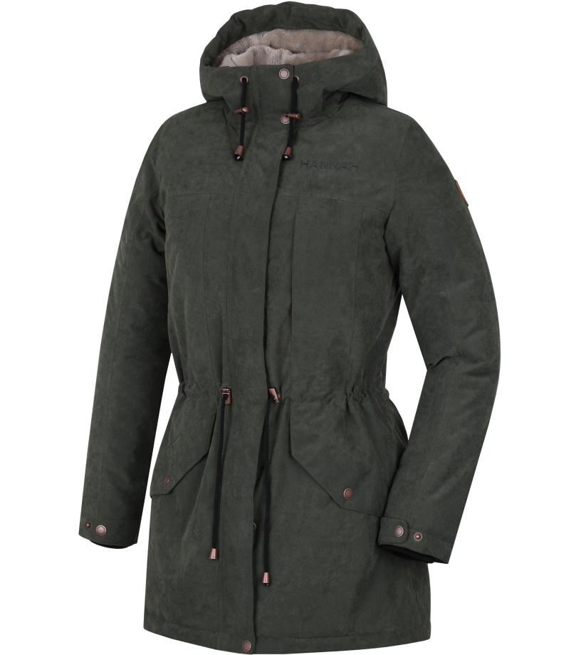 HANNAH ESMAIL Dámský zimní kabát 10000166HHX01 Thyme 36