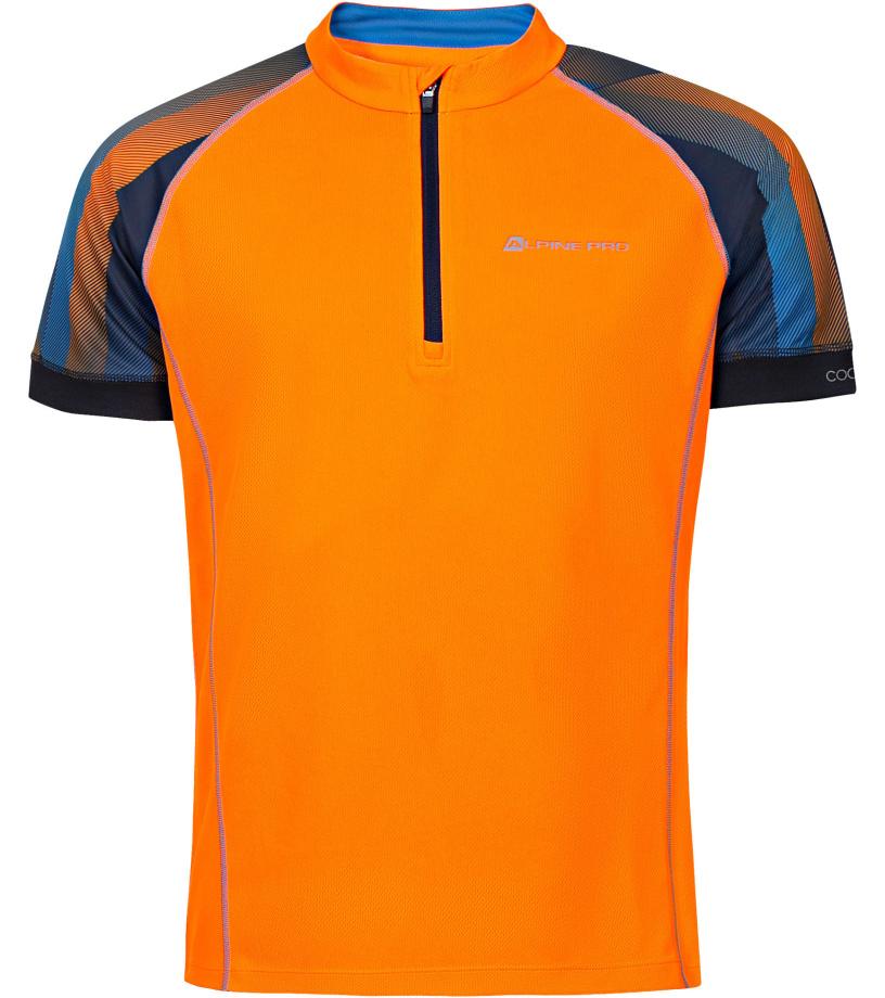 ALPINE PRO SORAN Pánské cyklo triko MTSN351343PA neon pomeranč M