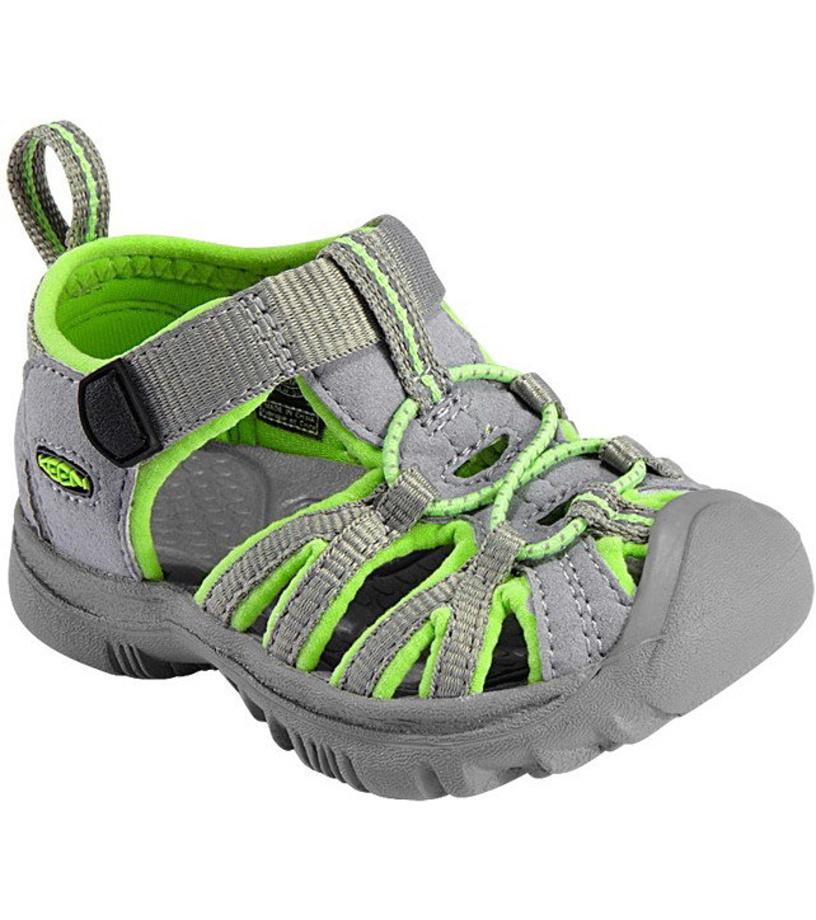 KEEN Whisper K Dětské sandály KEN1201010606 neutral gray/sap green 7(24)