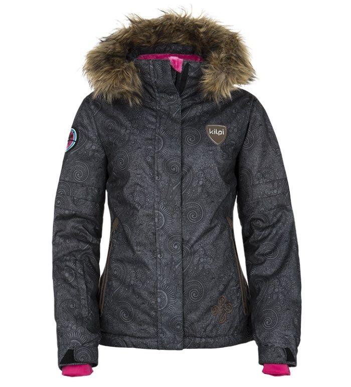 KILPI Dámská snowboardová bunda HELGA DL0155KIBLK Černá 42