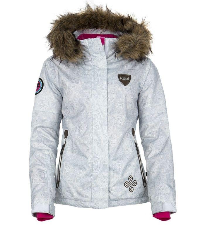 KILPI Dámská snowboardová bunda HELGA DL0155KIWHT Bílá 40