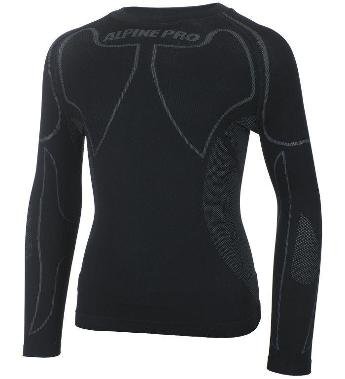 ALPINE PRO KRIOSO Dětské spodní triko KUNF003990 černá S