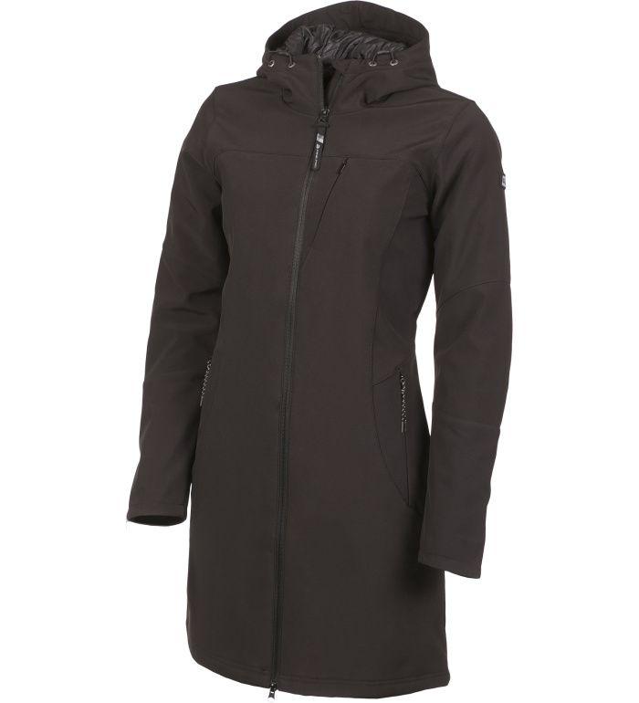 ALPINE PRO ASHERAH INS. Dámský softshellový kabát LCTF003990PA černá L-L