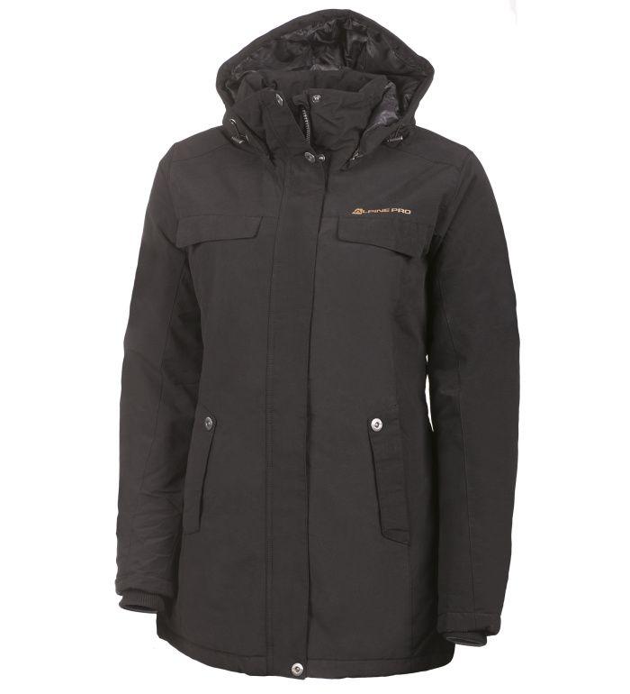 ALPINE PRO EDITE Dámský kabát LCTF006990 černá L