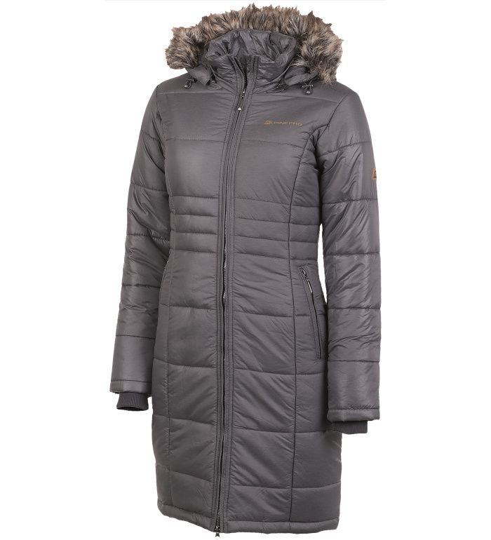 ALPINE PRO IRLANDA Dámský kabát LCTF009779 tmavě šedá XS
