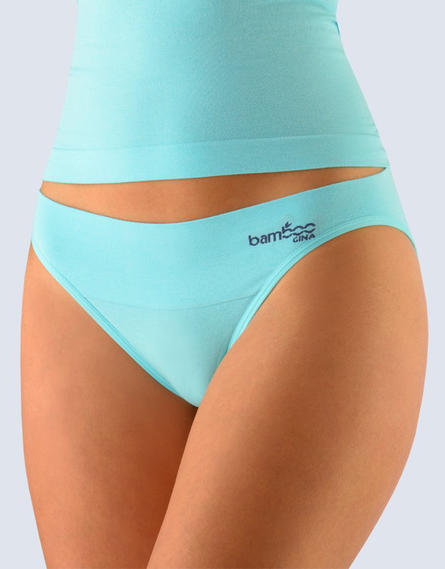 GINA Kalhotky klasické s úzkým bokem 00022-LYMDGM aqua-tm.popel S/M