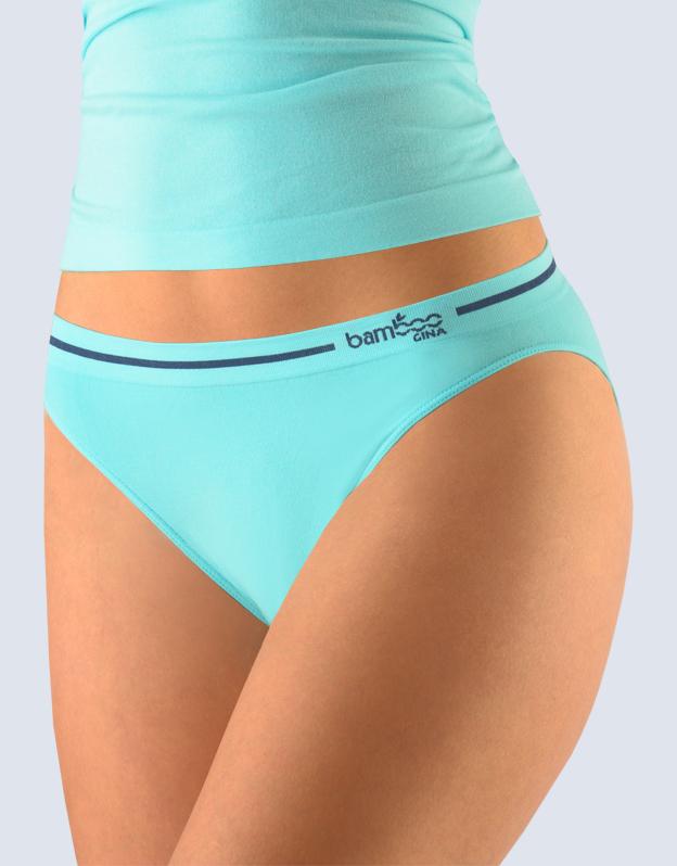 GINA Kalhotky klasické s úzkým bokem 00024-LYMDGM aqua-tm.popel S/M