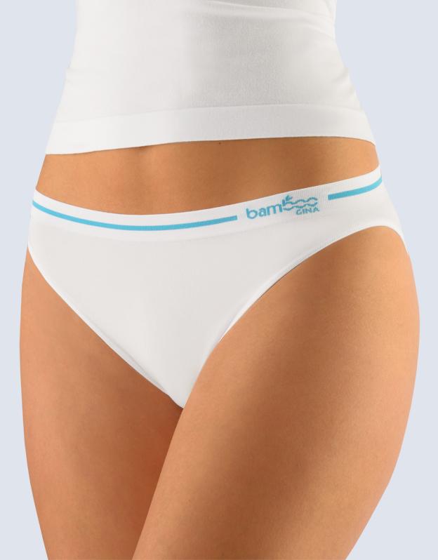 GINA Kalhotky klasické s úzkým bokem 00024-MxBDYM bílá tm.modrá S/M