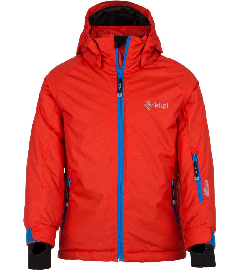KILPI Chlapecká lyžařská bunda SEMERU-JB FJ0001KIRED Červená 146