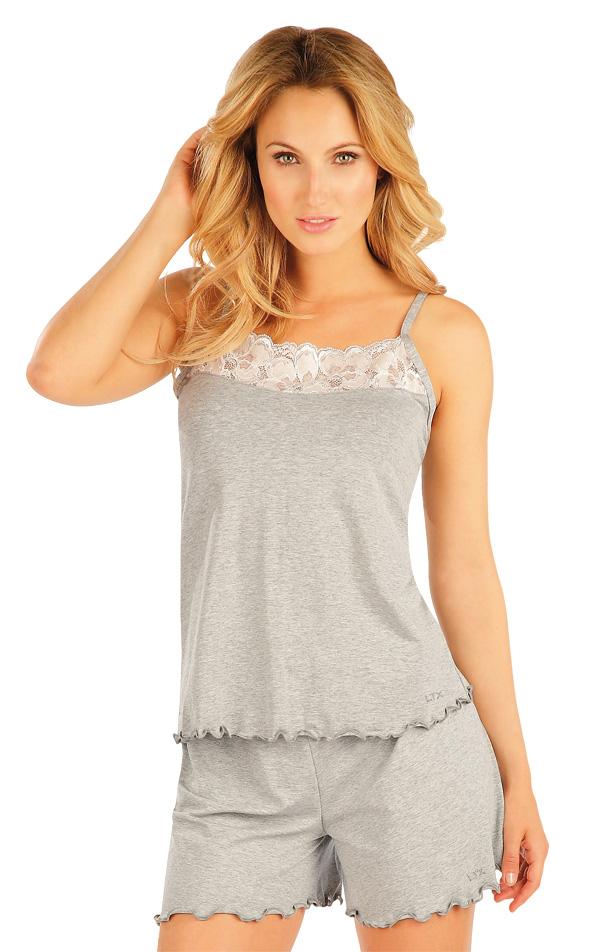 LITEX Dámské pyžamo - tílko. 90396110 světle šedé melé S