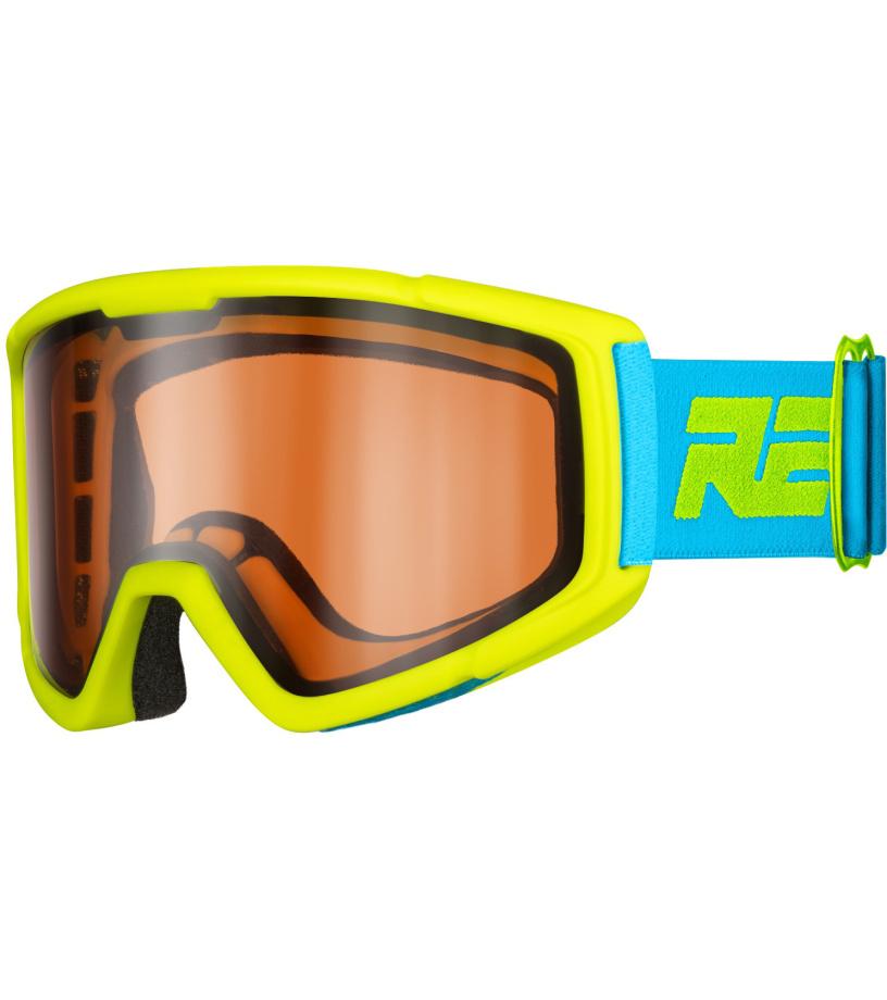RELAX SLIDER Dětské lyžařské brýle HTG30 žlutá XL