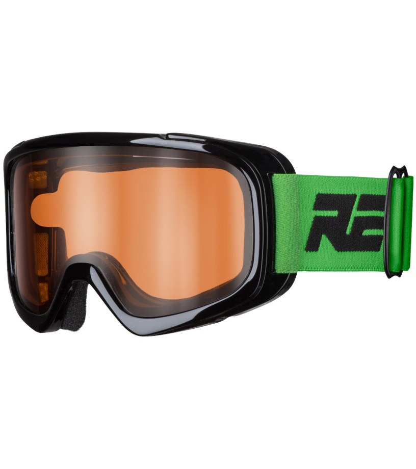 RELAX BUNNY Dětské lyžařské brýle HTG39 černá/zelená XL