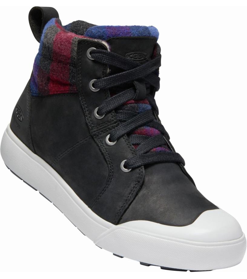 KEEN ELENA MID W Dámská zimní obuv 10008839KEN01 black/plaid 7,5(40,5)