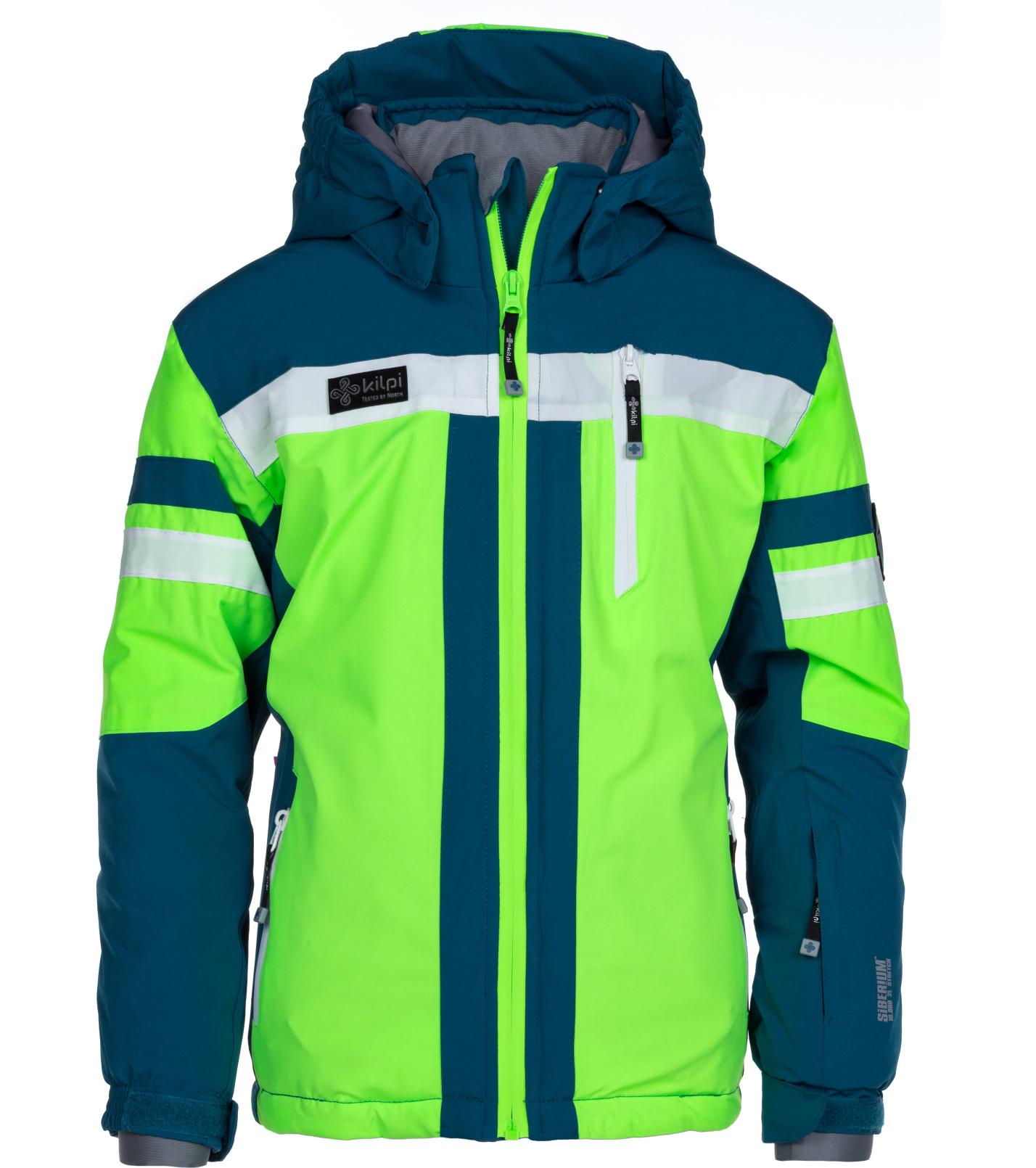 KILPI Chlapecká lyžařská bunda PONTE-JB LJ0011KIGRN Zelená 146