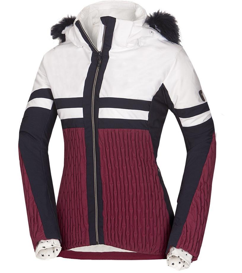 NORTHFINDER AMITY Dámská 2L lyžařská bunda BU-4671SNW307 tmavě červená S