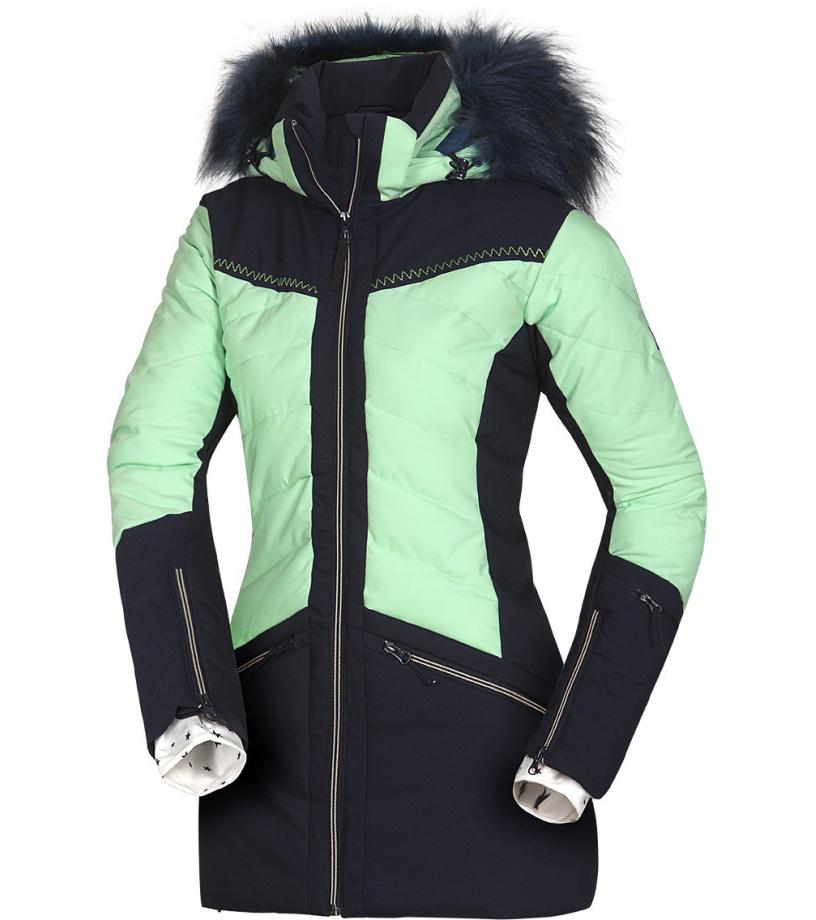 NORTHFINDER IRNES Dámská 2L lyžařská bunda BU-4676SNW333 světle zelená S