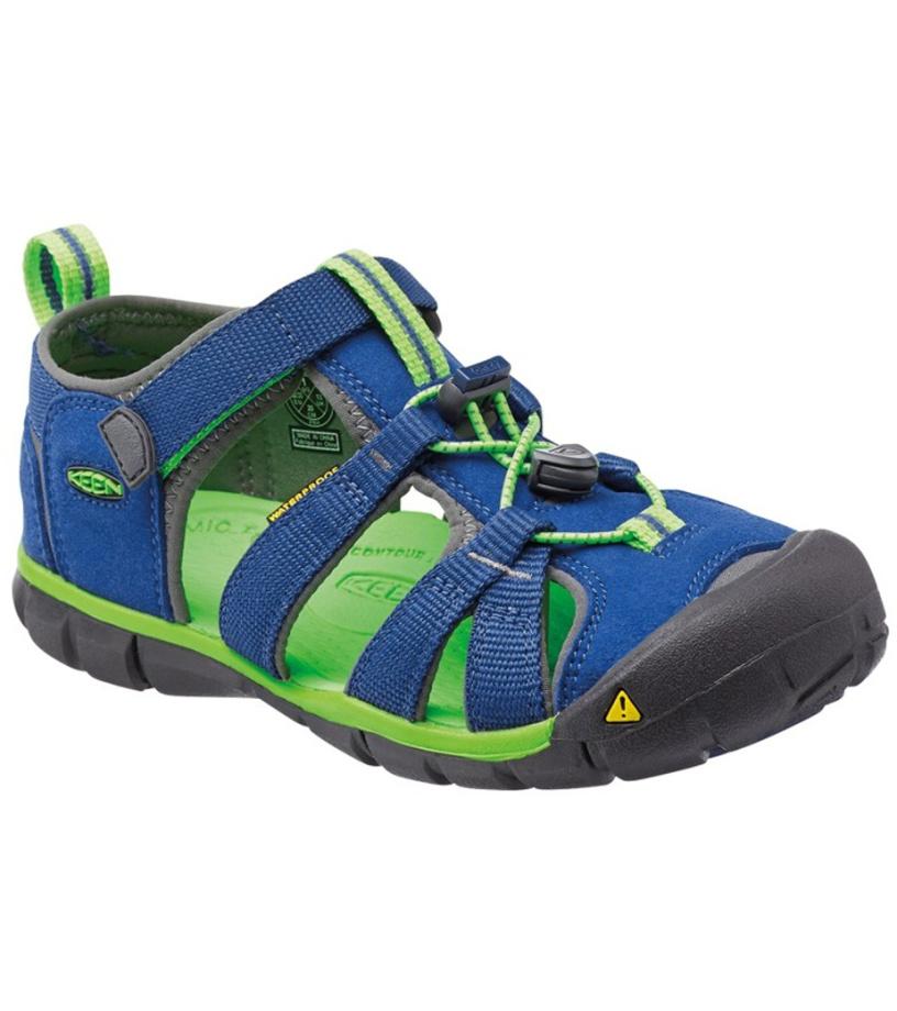 KEEN SEACAMP II CNX JR Dětské sandály KEN1201103307 true blue/jasmine green 37