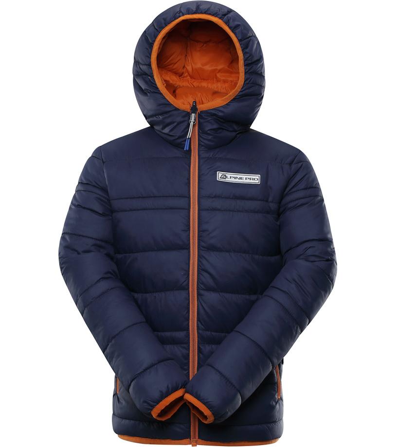 ALPINE PRO SELMO Dětská zimní bunda oboustranná KJCP149602 mood indigo 116-122