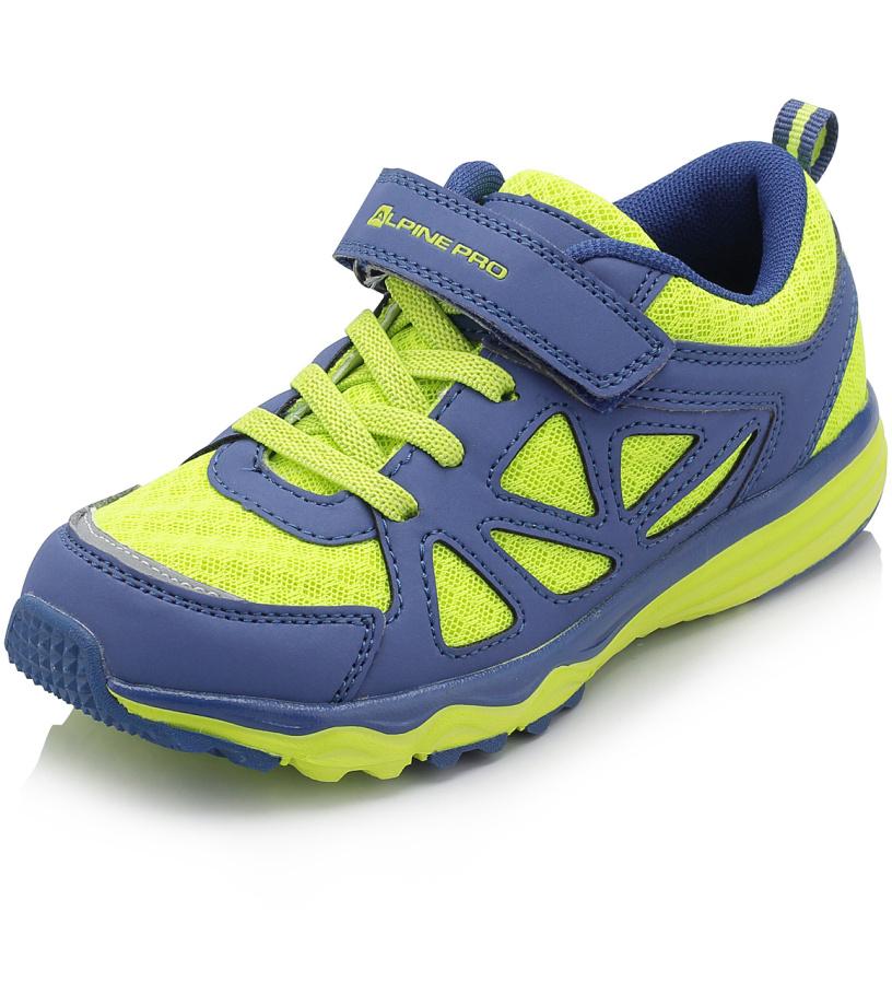 ALPINE PRO TOMAH Dětská obuv sportovní KBTJ121530 reflexní žlutá 35