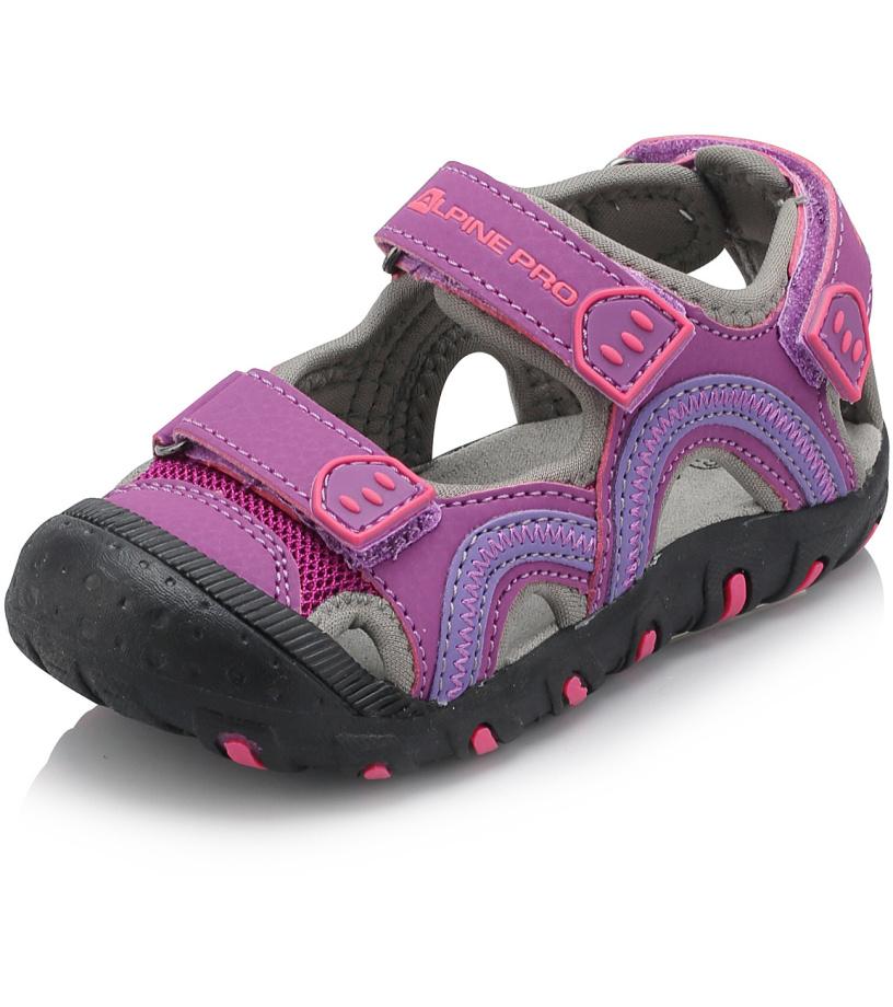 ALPINE PRO NIRAJ Dětské sandály KBTJ140889 amethyst 26