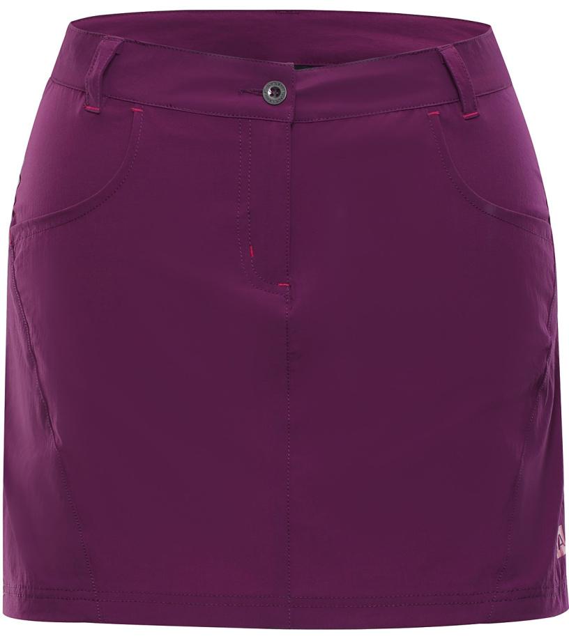 ALPINE PRO DELMA 2 Dámská softshellová sukně LSKJ055826 grap juice