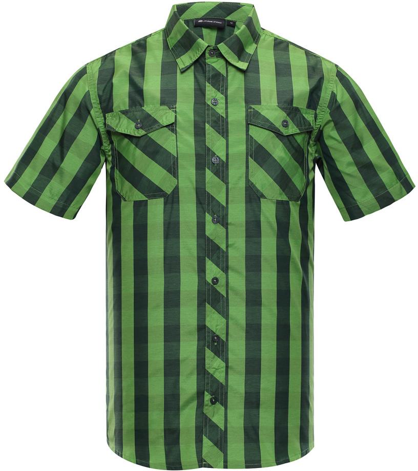 ALPINE PRO LURIN Pánská košile MSHJ022528 zelená XXXL