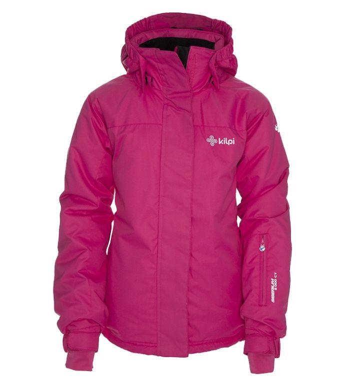 KILPI Dětská lyžařská bunda AINO-JG BJ0009KIPNK Růžová 158
