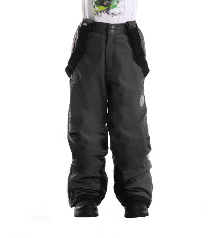 ALPINE PRO SEZI Dětské kalhoty KPAD029990 černá 104-110