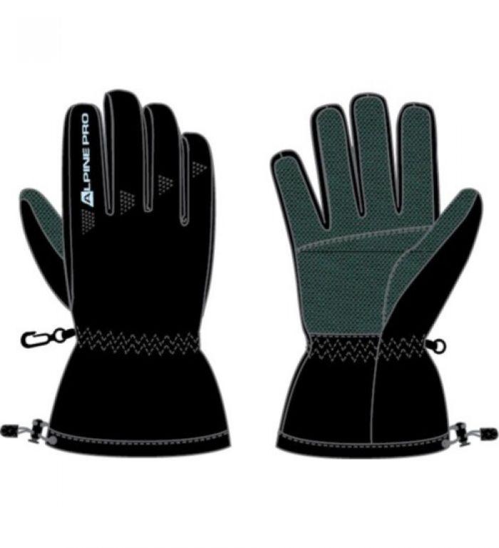 ALPINE PRO THEO Pánské softshell rukavice MGLD012990 černá L
