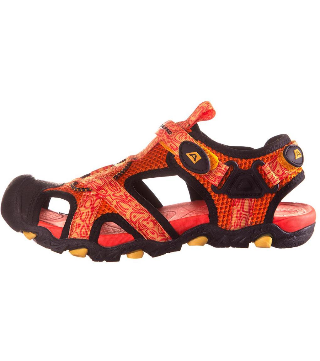 ALPINE PRO BARBIELO Dětská letní obuv KBTN190309 jasně oranžová 32