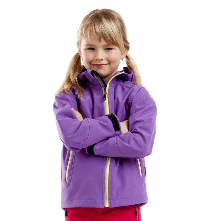 ALPINE PRO LAURIN Dětská softshell bunda KJCC002804JJ fialová 116-122