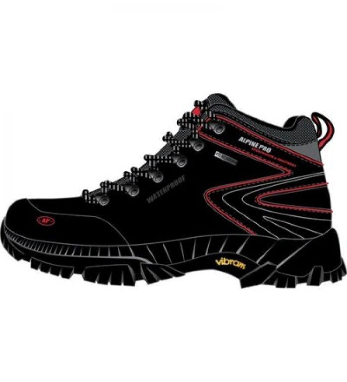 ALPINE PRO WINDIGO MID PTX Uni trekkingová obuv UBTB039990 černá 38