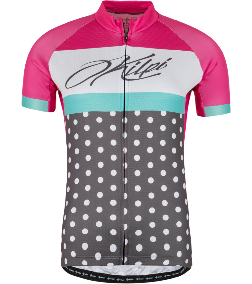 KILPI Dámský cyklistický dres DOTTY-W GL0010KIPNK Růžová