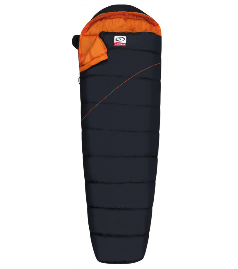 LOAP CAMPER Spací pytel mumie SP1720V11E black/orange
