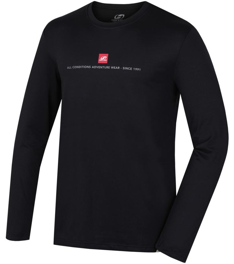 HANNAH TERELL Pánské funkční triko s dl. rukávem 10000077HHX01 Anthracite (red)