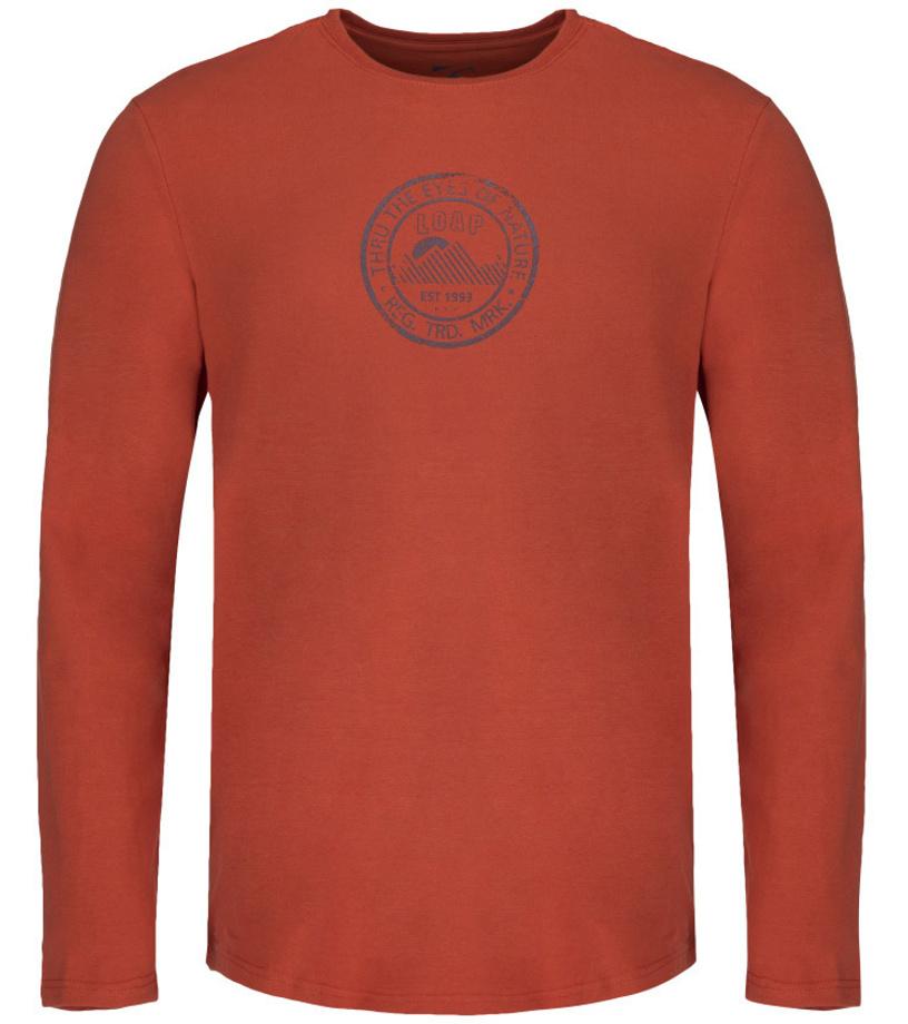 ec51f069e13 LOAP ALONZO Pánské triko s dlouhým rukávem CLM1872E13E Burnt Orche S