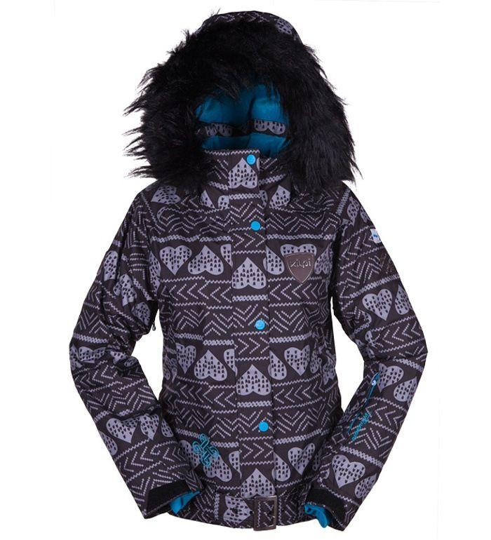 KILPI Dámská snowboardová bunda KAINU BL0031KIBLK Černá 42