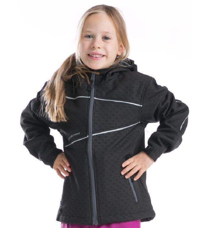 ALPINE PRO MIRONE II. Dětská softshell bunda KJCD021990PB černá 140-146