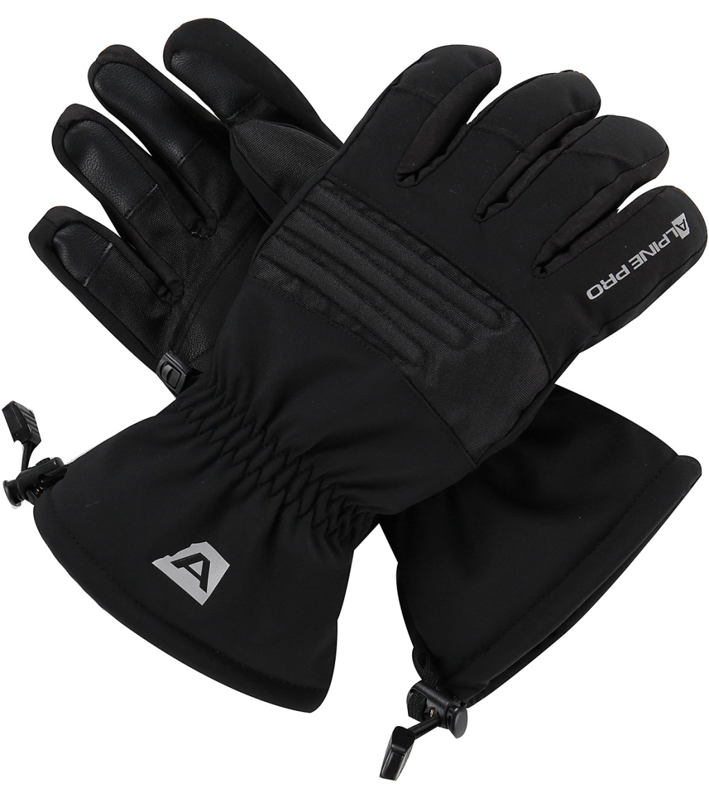 ALPINE PRO KAROG Unisex lyžařské rukavice UGLP013990 černá M