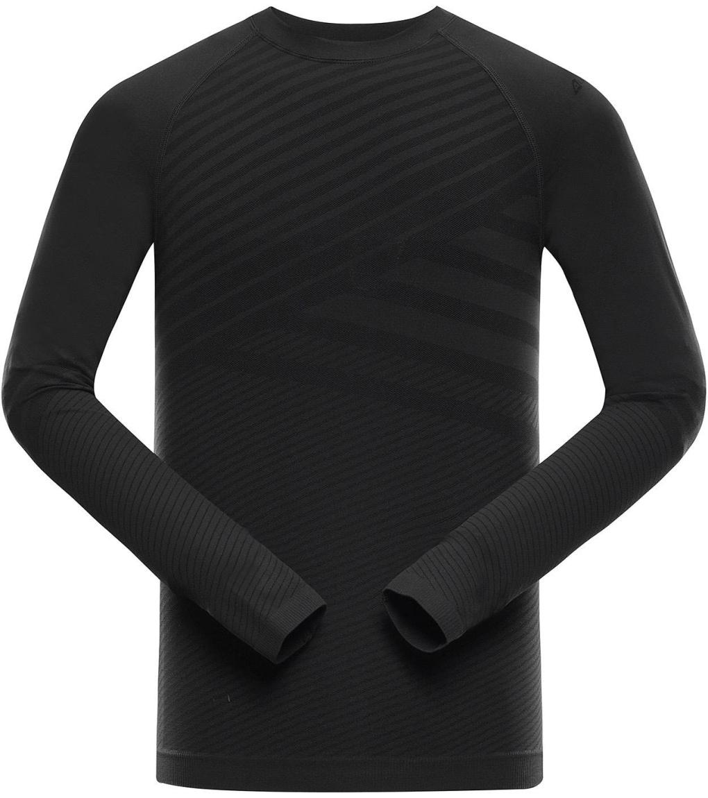 ALPINE PRO KRATHIS 5 Pánské spodní triko s dlouhým rukávem MUNS060990 černá XS-S