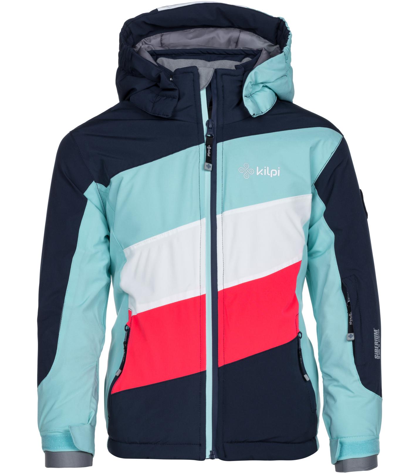 KILPI Dívčí lyžařská bunda SAARA-JG LJ0050KIDBL Tmavě modrá 146
