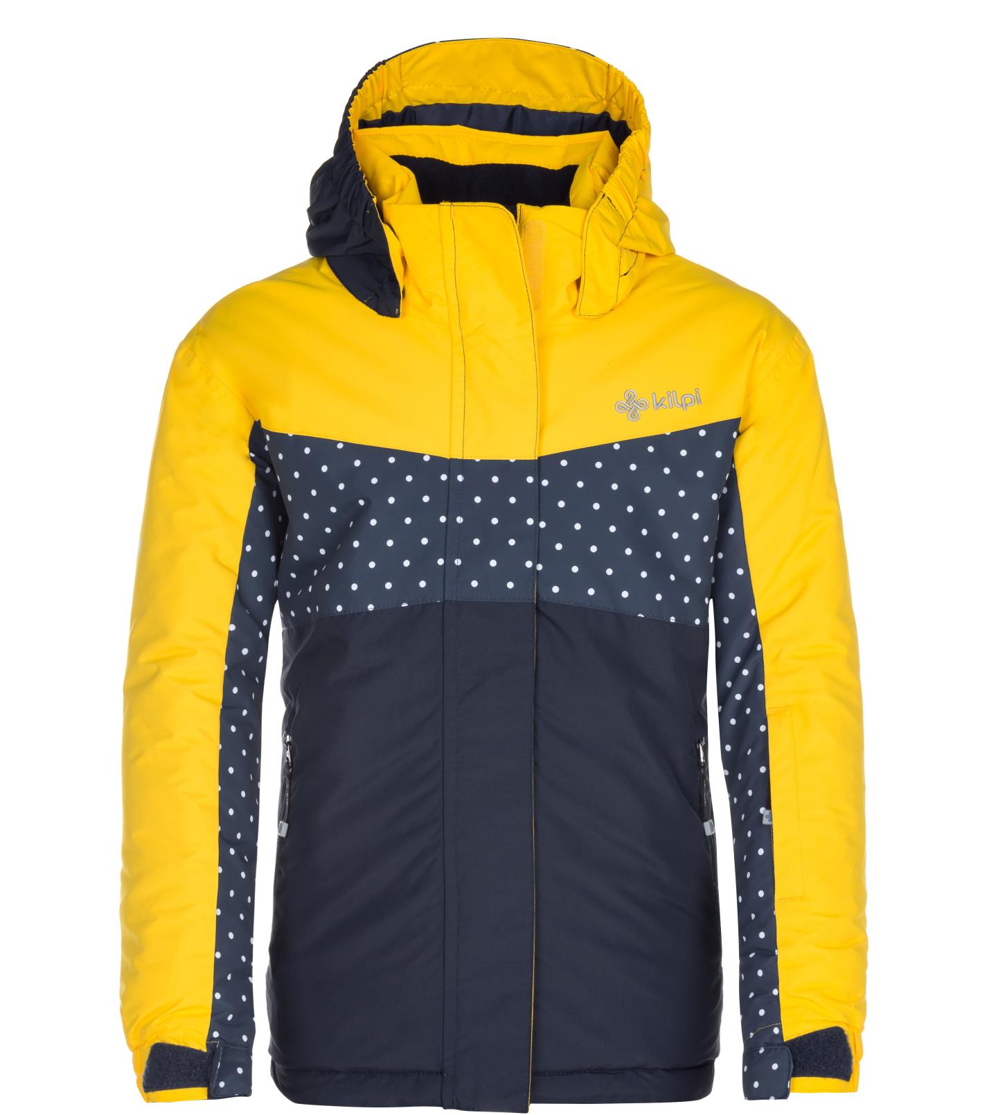 KILPI Dívčí lyžařská bunda MILS-JG LJ0051KIYEL Žlutá 146