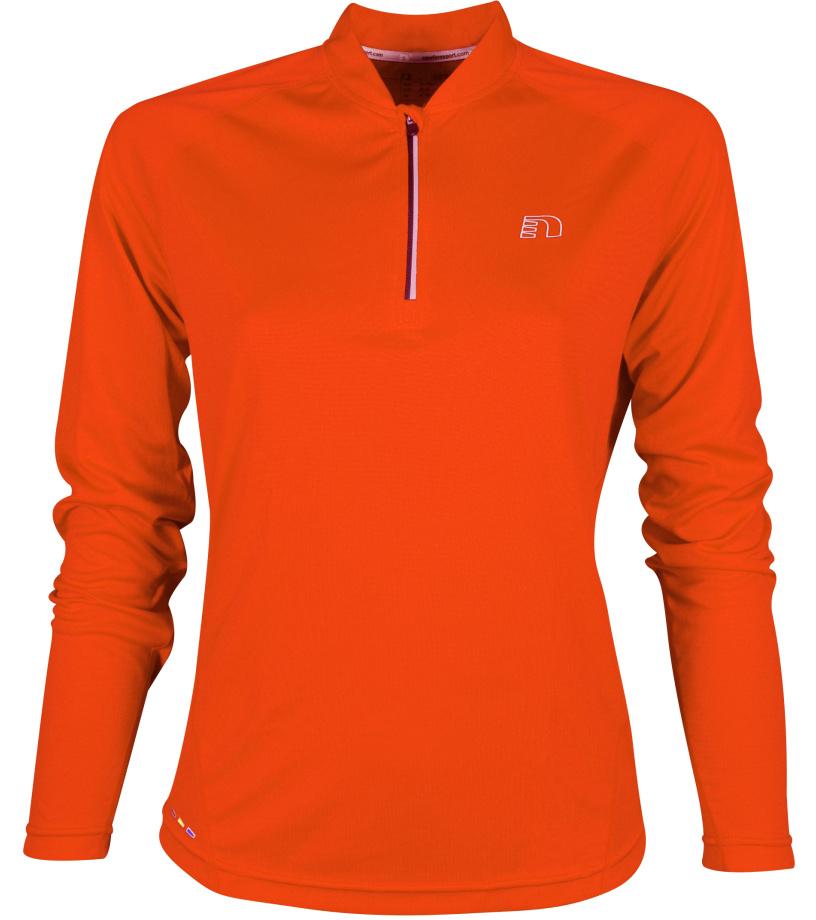 NEWLINE BASE Dámské běžecké tričko se zipem 13370-017 Oranžová