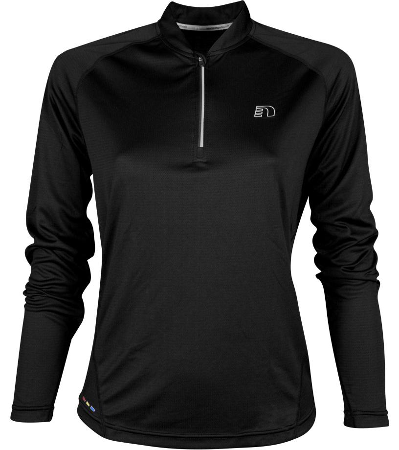 NEWLINE BASE Dámské běžecké tričko se zipem 13370-060 černá