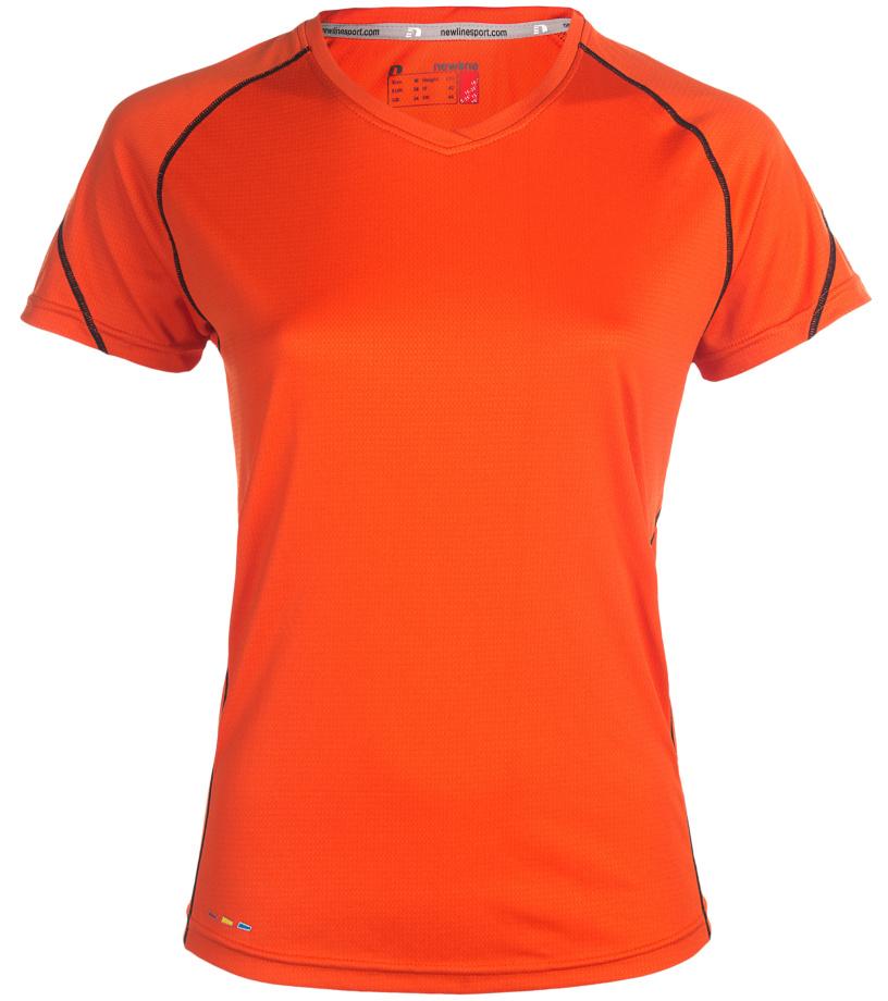 NEWLINE BASE Coolskin Dámské běžecké tričko 13603-017 Oranžová L