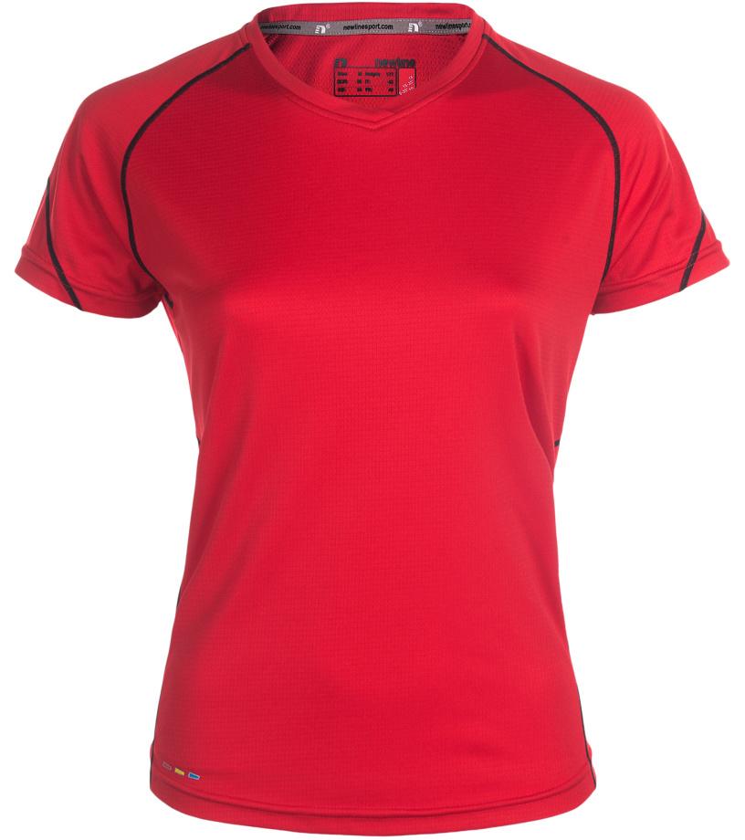 NEWLINE BASE Coolskin Dámské běžecké tričko 13603-04 Červená